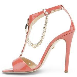 Just Cavalli Patent Leather Sandal Heel W/ Chain